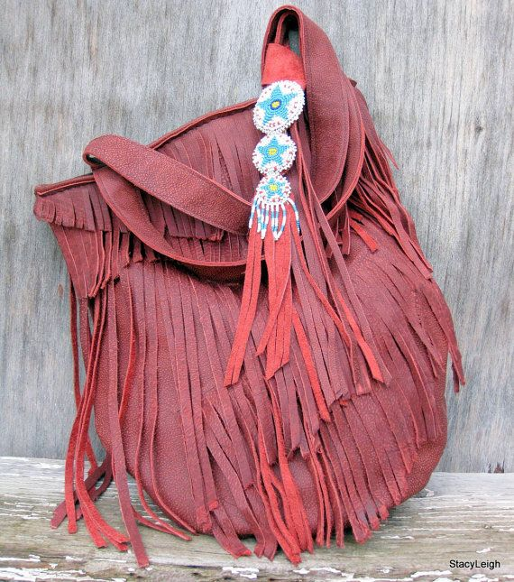 Fringe Leather Bag by Stacy Leigh $265