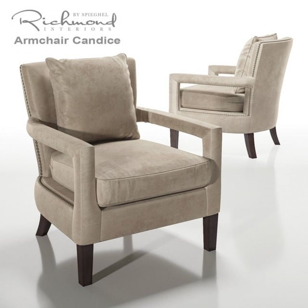 Richmond Candice Armchair 3d Model Armchair Furniture Home