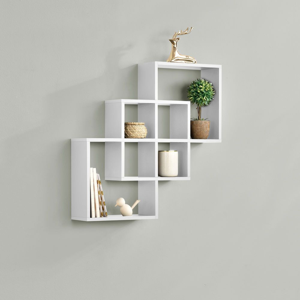 En Casa Wall Shelf Hanging Shelving Unit Compartments Wall Board