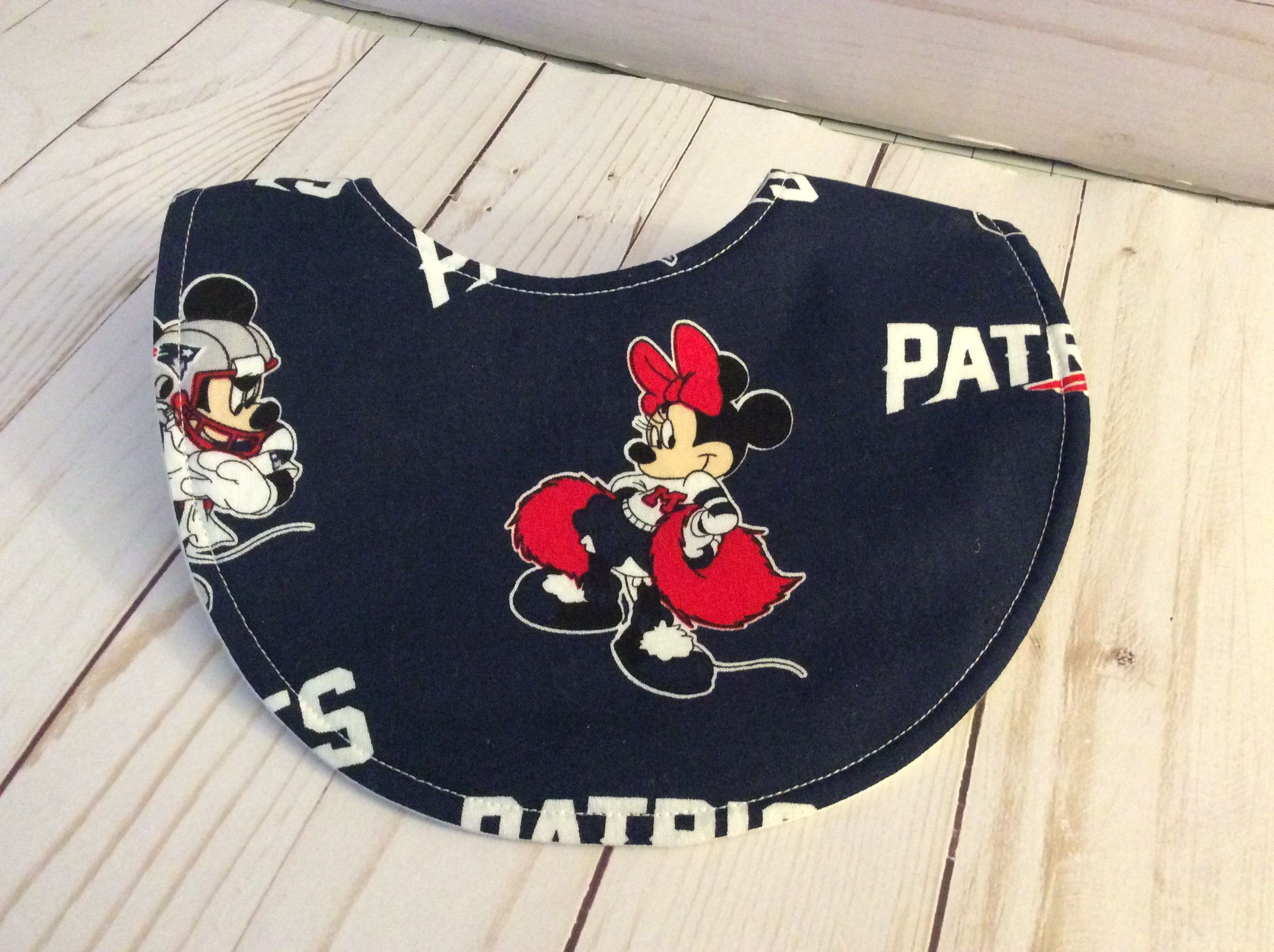 New England Patriots Mnne Mouse Bibs Baby Bib Baby Girl Disney NE Patriots  Football Patriots Baby Gift NFL Baby Bib by OliversNursery on Etsy cf5ea395b