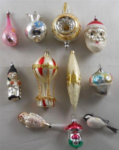 11 Vintage Glass Christmas Tree Ornaments Xmas Holiday Decorations All 1  Price ! | eBay - 11 Vintage Glass Christmas Tree Ornaments Xmas Holiday Decorations