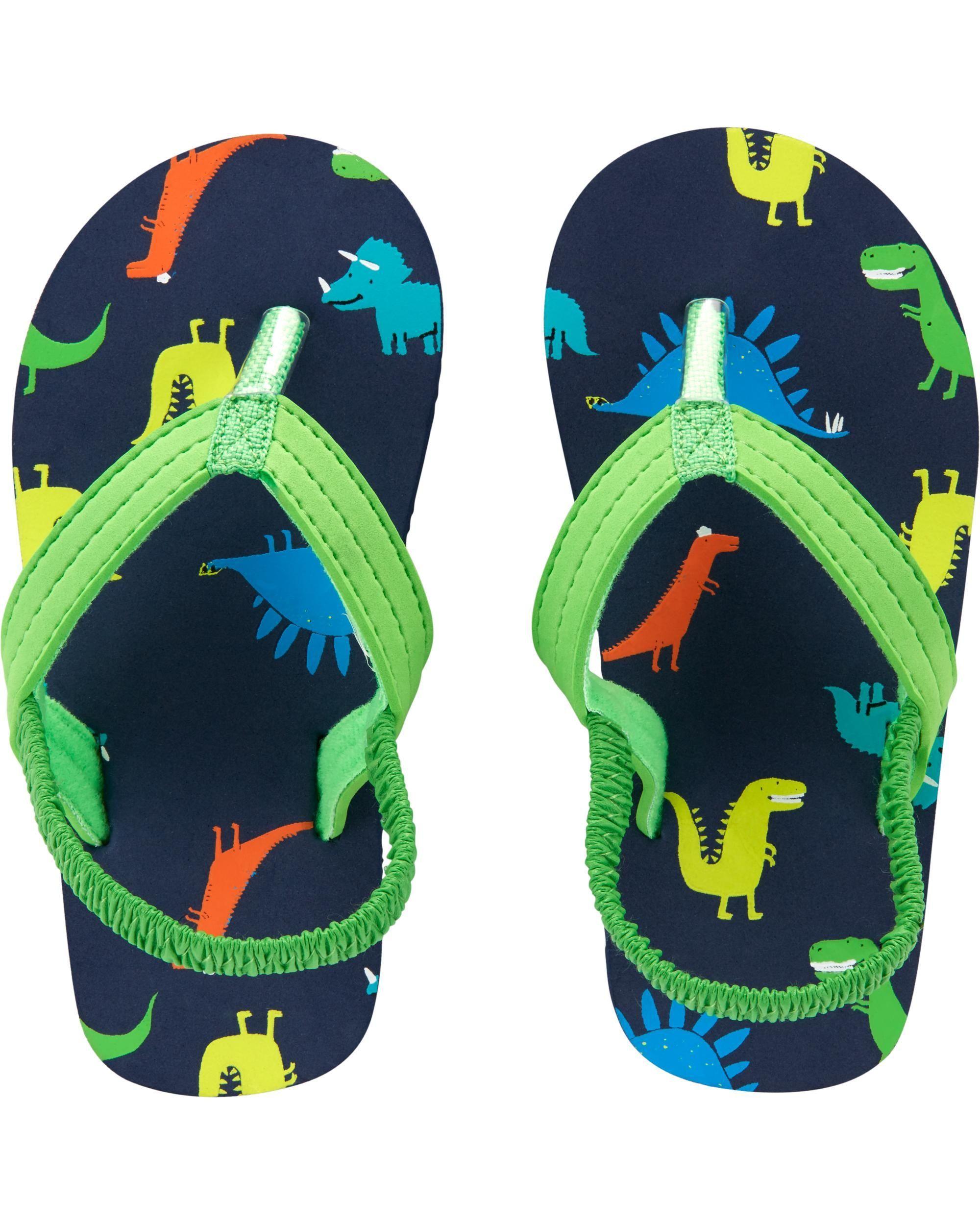 Dinosaur Flip Flops | Boys flip flops