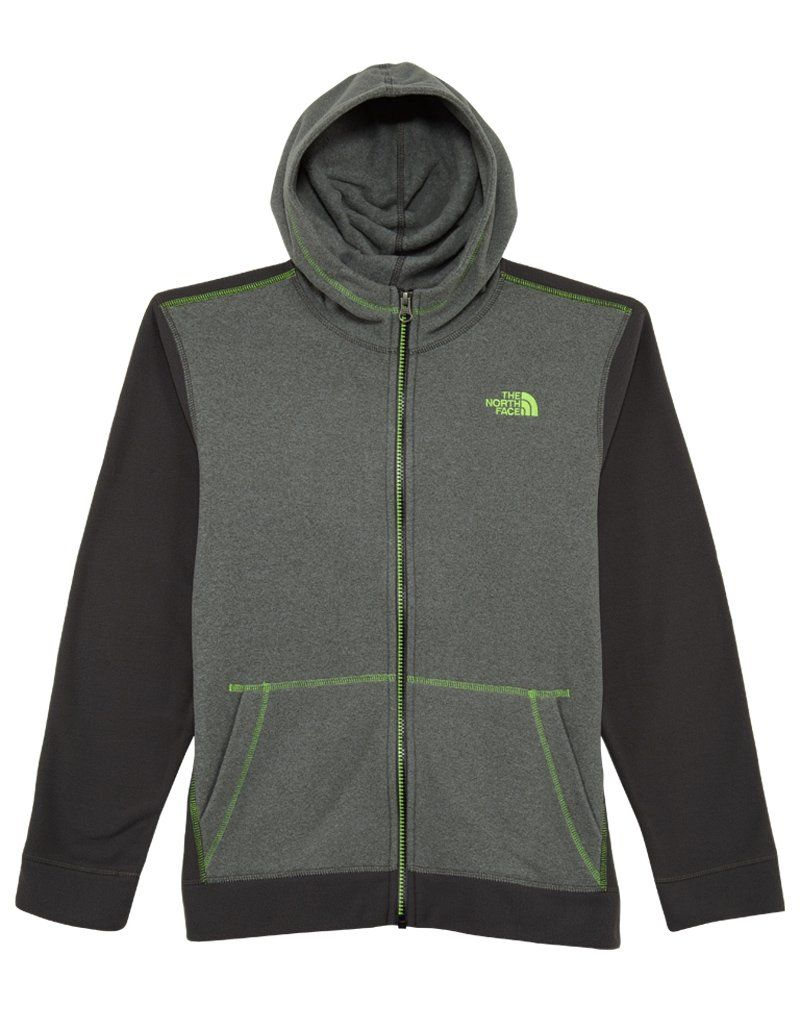 ba288c9db The North Face Boys' Glacier Full Zip Hoodie TNF Medium Grey Heather ...