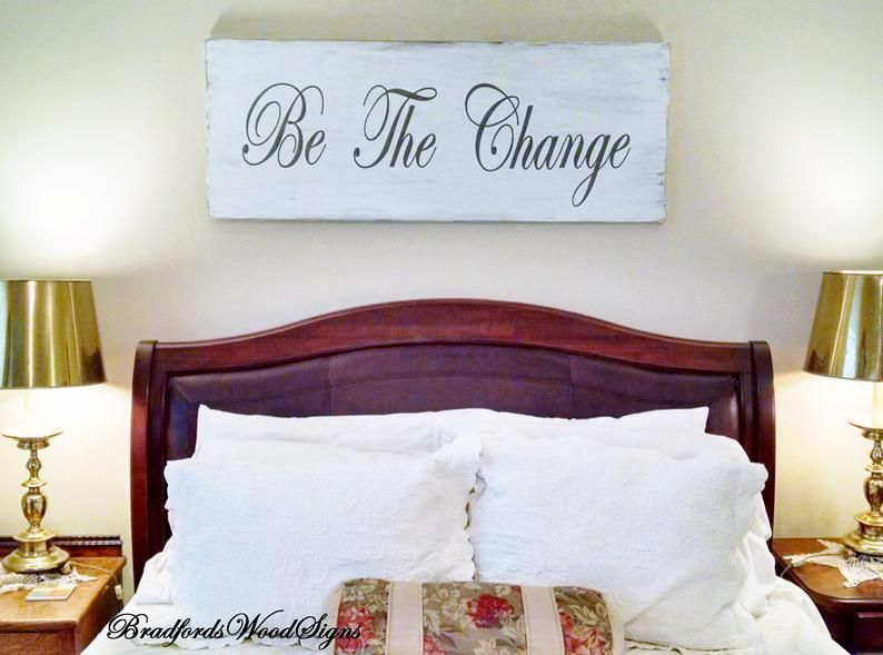 Bedroom Wall Decor Be The Change Or Your 3 Words