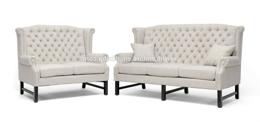 Superb High Back Sofa And Loveseat