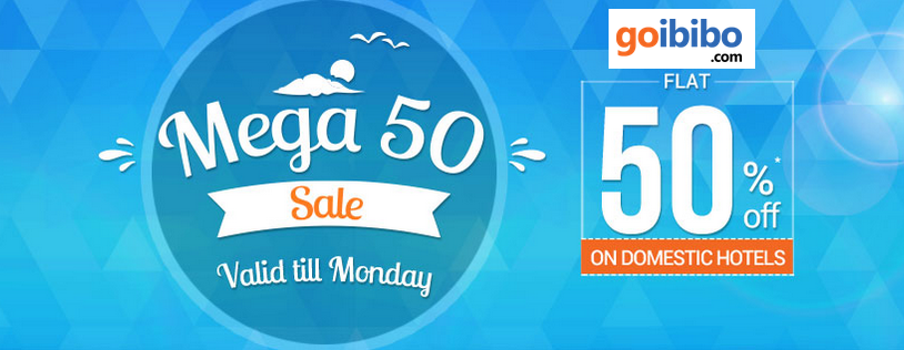Goibibo‬ Mega 50 Sale Get Flat 50 OFF On Domestic