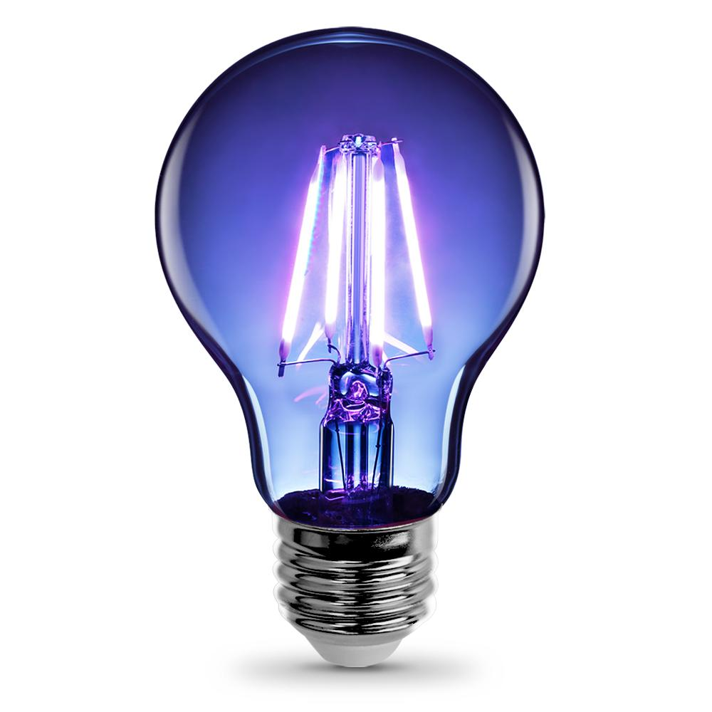 Feit Electric 25 Watt Equivalent A19 Medium E26 Base Dimmable Filament Blue Colored Led Clear Glass Light Bulb Led Light Bulb Decorative Light Bulbs
