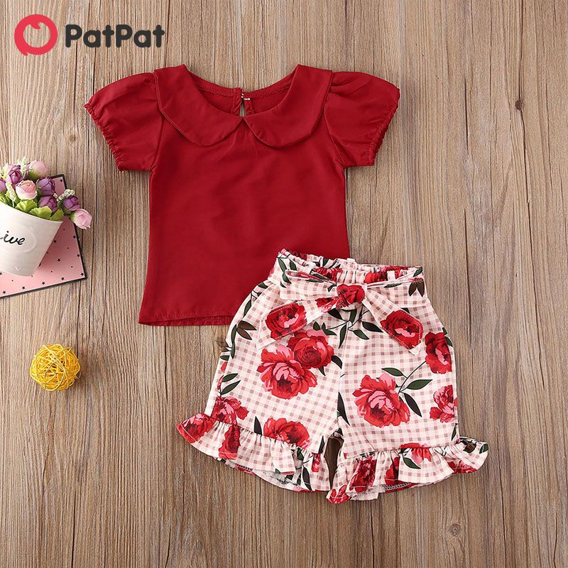 Toddler Baby Girl Short Sleeve Ruffle Top Boho Floral Maxi Skirt Outfits Clothes Set