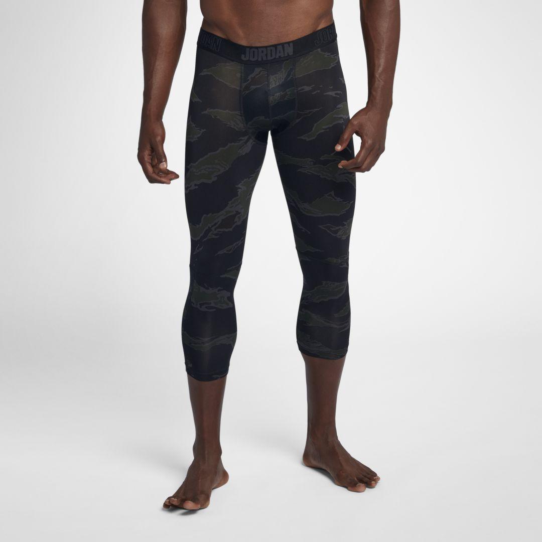 87798b771fb84e Jordan Dri-FIT 23 Alpha Men s Print 3 4 Training Tights Size 3XL (Black)