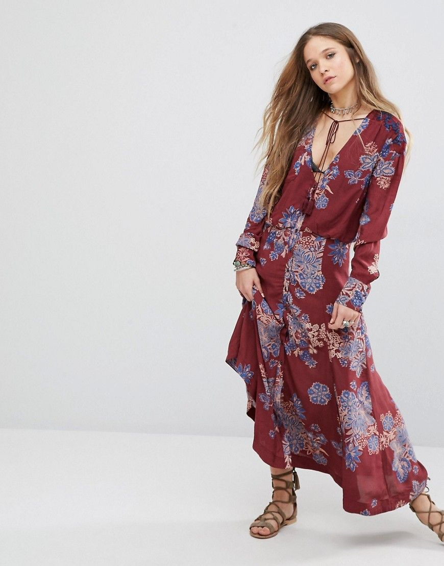 Free people printed maxi dress my style pinterest free people