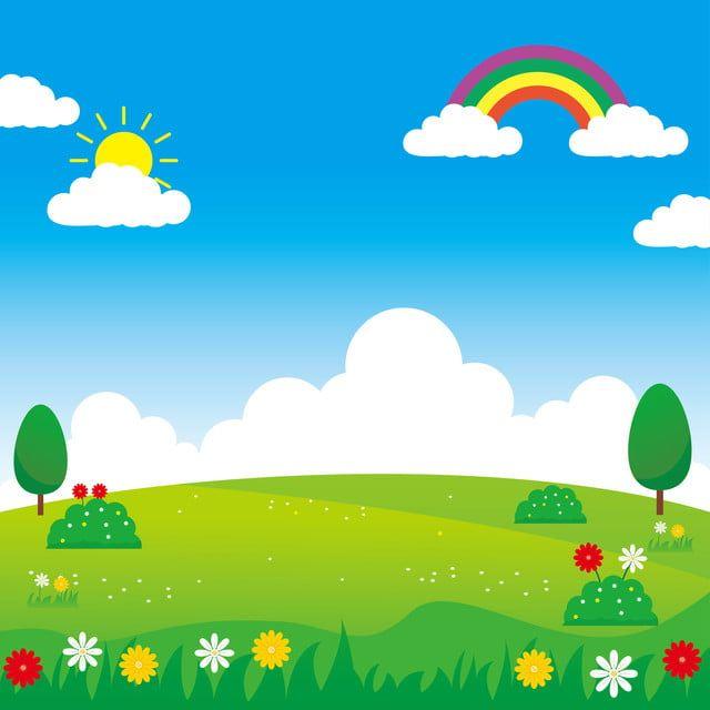 Landscape Vector Illustration With Funny Design Su