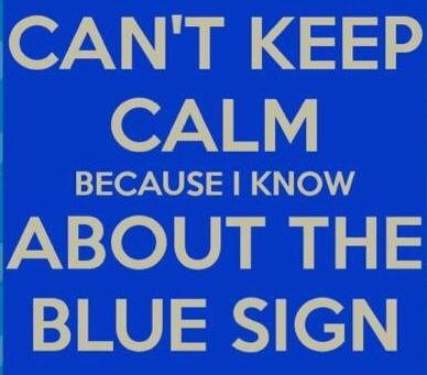 Lil blue sign