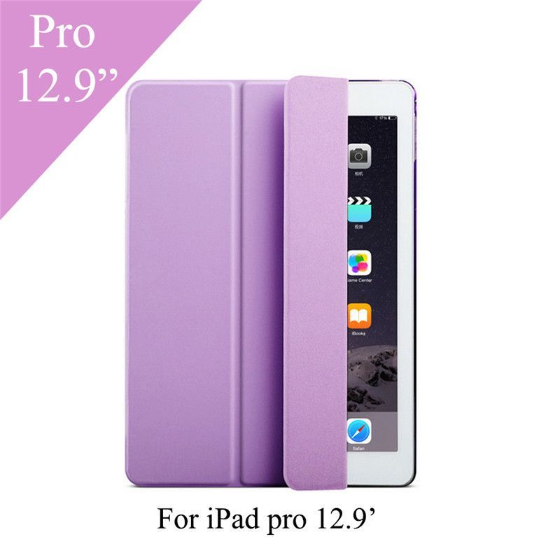 """Front Leather Smart Cover Case with Plastic Hard Back Cover For Apple iPad Pro 9.7"""" 12.9"""""""