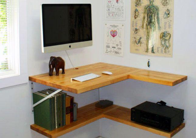 Floating corner desk 10 Do-It-Yourself Standing Desks