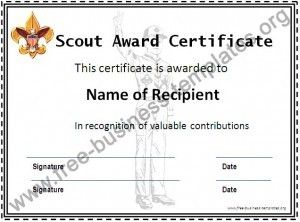 Boy scout certificate template review at kaboodle for Eagle scout certificate template