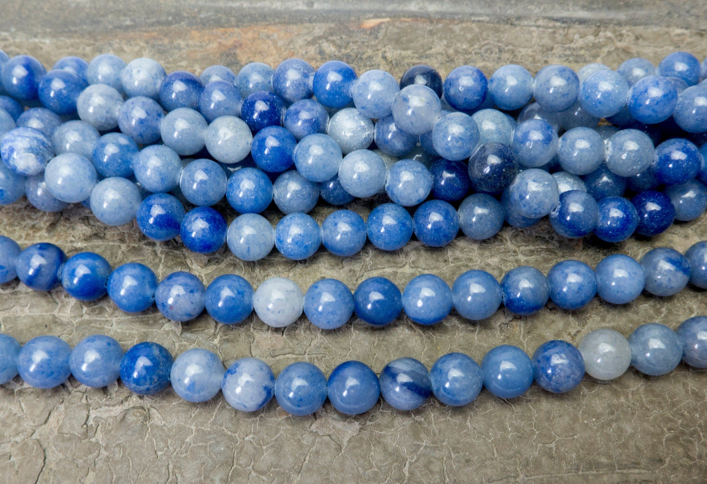 Blue Aventurine Beads for Jewelry Making Beads Blue Beads Jewelry Beads And Supplies Bracelets Beads Necklace Brads  Mala Making Beads