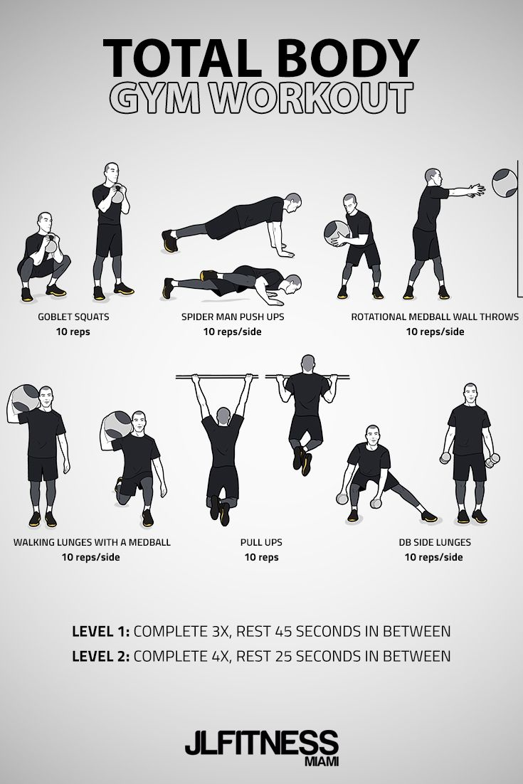 Total Body Gym Workout For Men (With images)   Gym ...