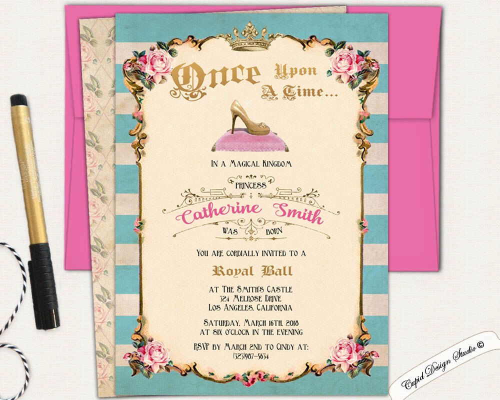 A personal favorite from my etsy shop httpsetsylisting cinderella birthday invitation cinderella party by cupiddesigns filmwisefo Choice Image