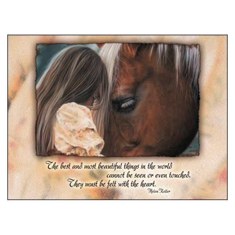 Leanin tree in their own world blank horse greeting card