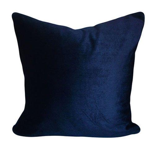 Navy Blue Velvet Belgium Cotton Throw Pillow Cover Decorative Pillow Both Sides 12x16 12x20 14x24 Blue Velvet Fabric Blue Throw Pillows Velvet Pillows