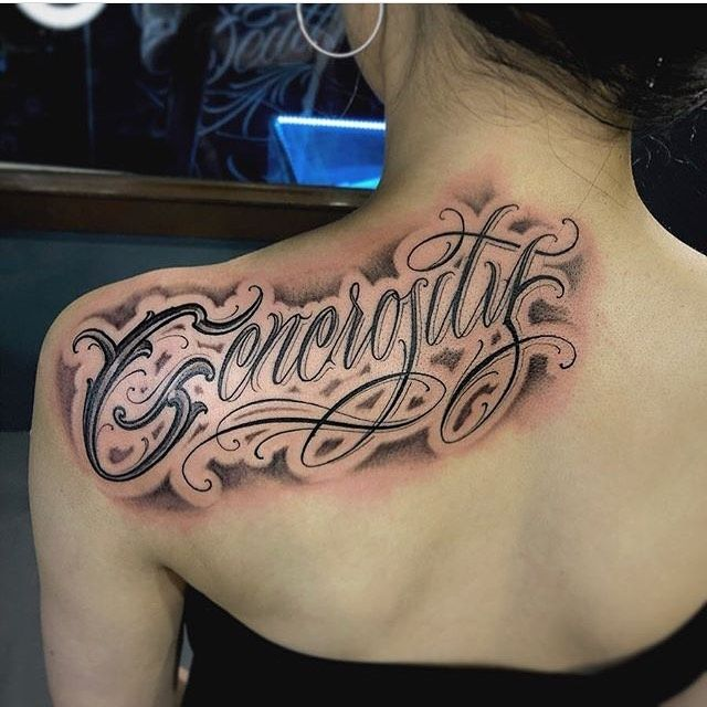 Inspirational about love? Generosity done by @edgy_letters Korea
