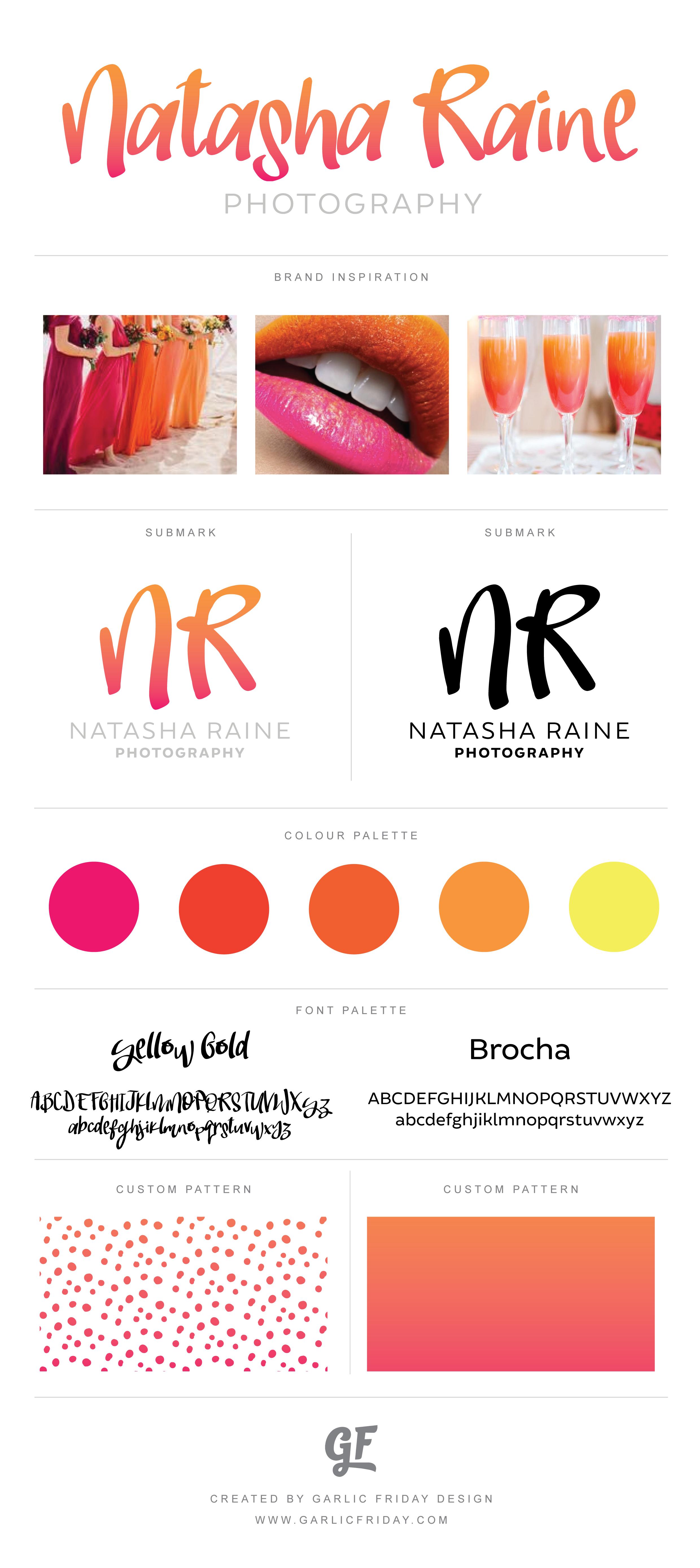 Ombre Pre Made Logo Pink Orange Citrus Sunset Bright Colourful Femi Logo Inspiration Photography Fashion Design Inspiration Board Fashion Logo Branding
