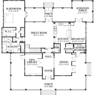 Love This Plan 2 800 Sq Ft The Richmond Hill By Allison Ramsey Floor Plans House Plans Farmhouse Plans
