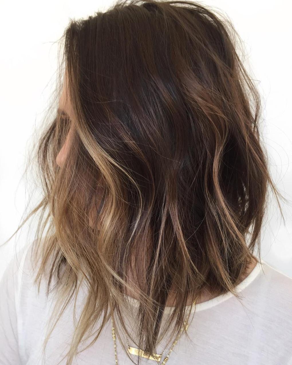 Brunette Bob With Face Framing Balayage Hair Color Balayage Balayage Hair Hair Styles