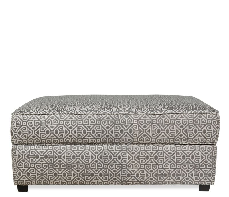 Boston Interiors Hideaway Ottoman.Stocked in a pewter geometric patterned  fabric, the Hideaway storage - Boston Interiors Hideaway Ottoman.Stocked In A Pewter Geometric
