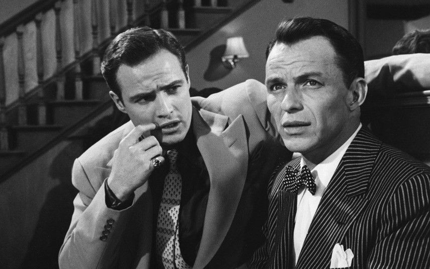 Marlon Brando and Frank Sinatra, Guys and Dolls (1955 ...