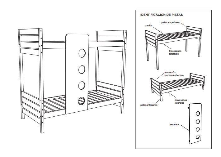 Planos para construir muebles de madera litera for Planos de carpinteria de madera