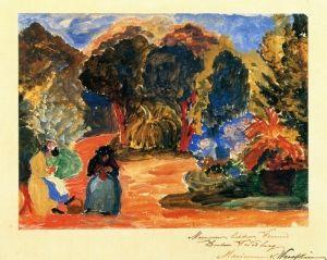 Two Woman in a Park - circa 1910 Marianne von Werefkin