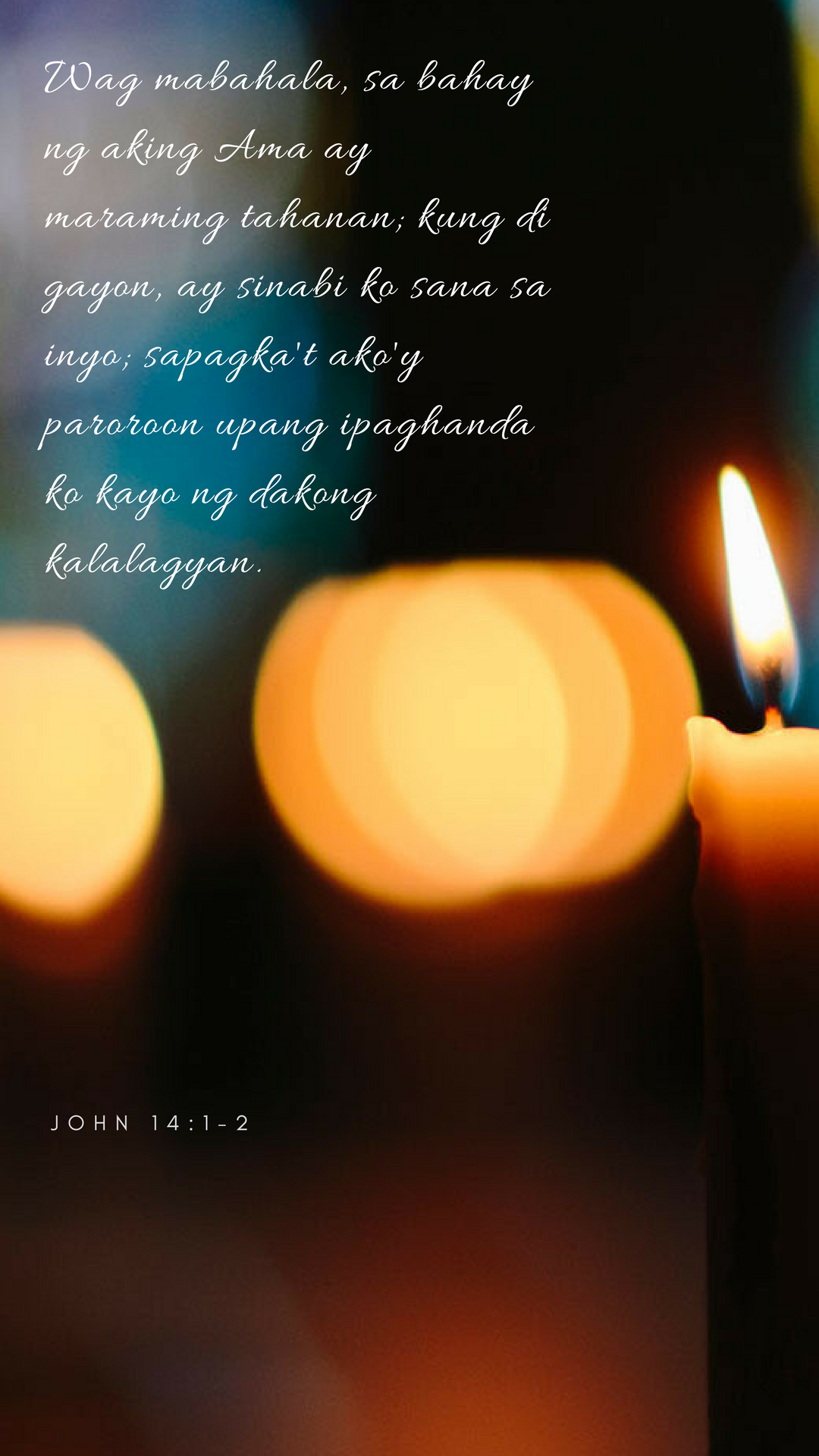 Tagalog Version JOHN 14:1-2 | Bible Verse Art | Faith verses