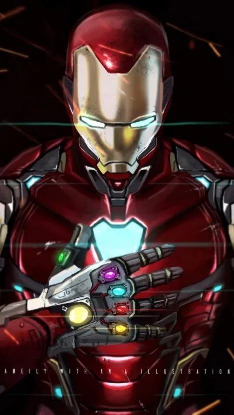 Iron Man With Infinity Gauntlet Iphone Wallpaper Free Free Pik Psd Iron Man Marvel Iron Man Marvel Heroes