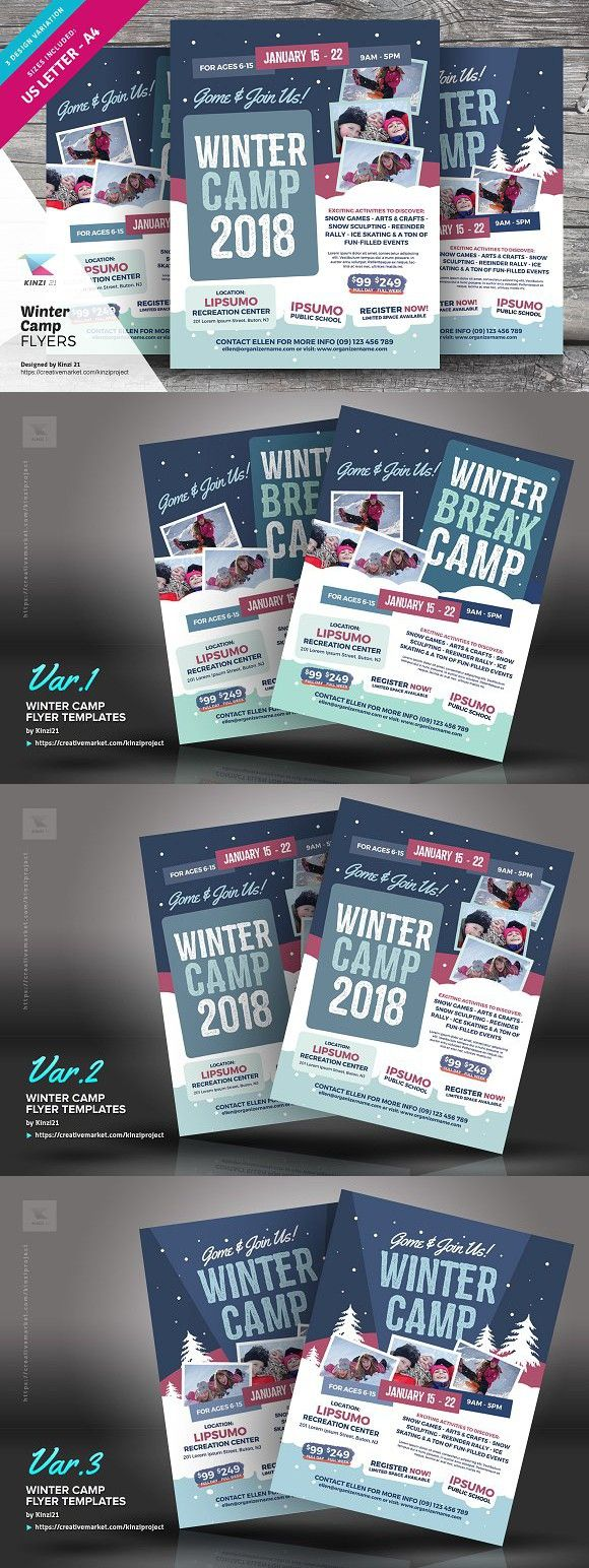 Winter Camp Flyer Templates Flyer Templates   Flyer