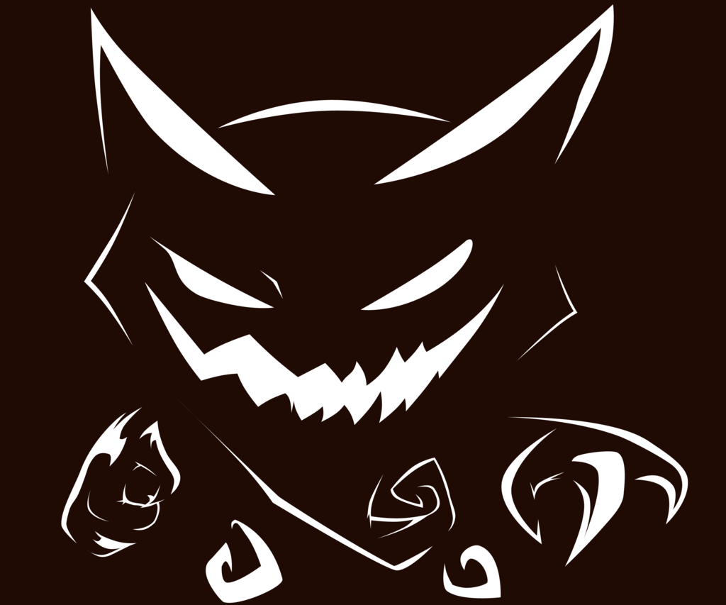 Haunter pumpkin stencil by pokemon for Pokemon jack o lantern template