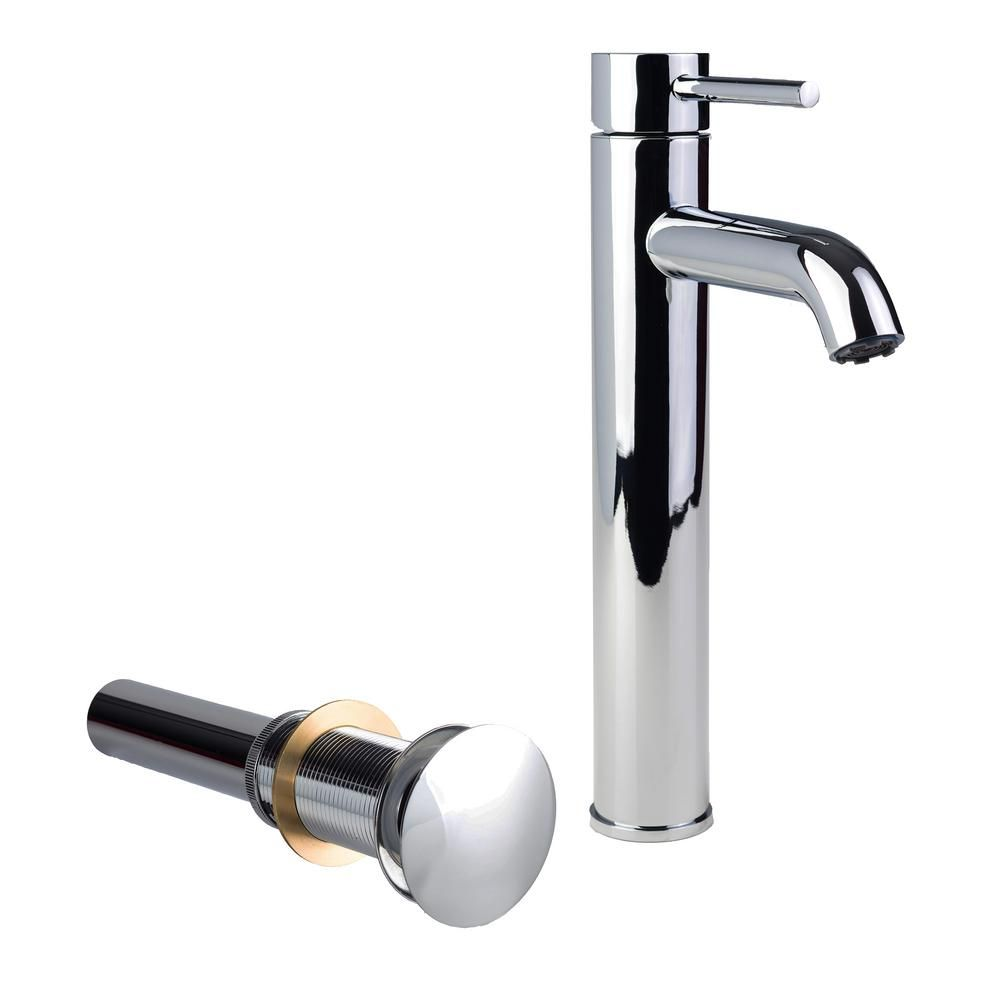 Fontaine Single Hole Single Handle High Arc Vessel Bathroom Faucet