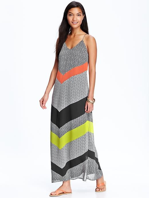 ec5e7f5cbb Bring it down to  15 and all day! Old Navy Women s Patterned Chiffon Maxi  Dresses
