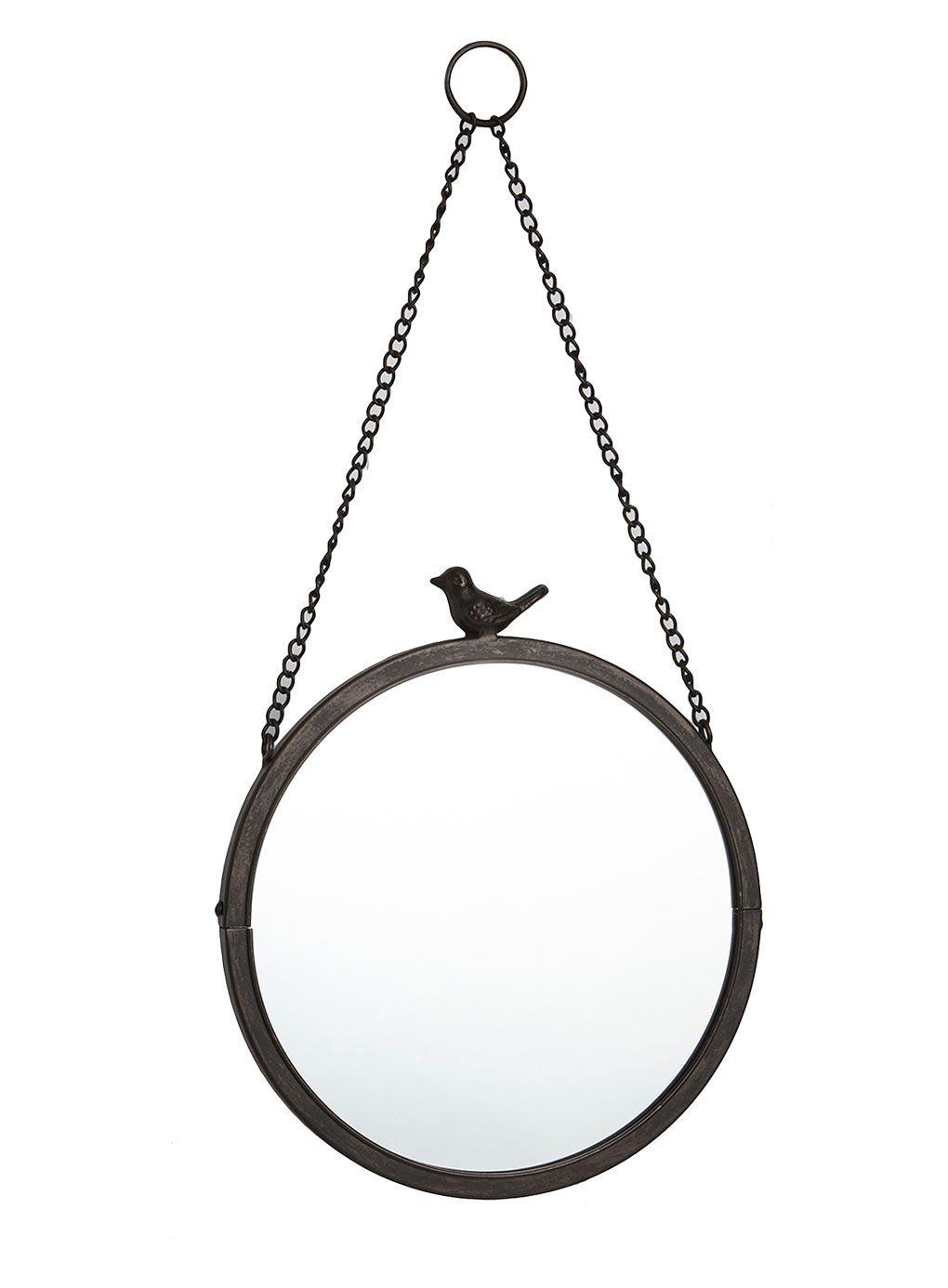 Bhs Bathroom Storage Bronze Vintage Curiosity Round Hanging Bird Top Mirror Bhs