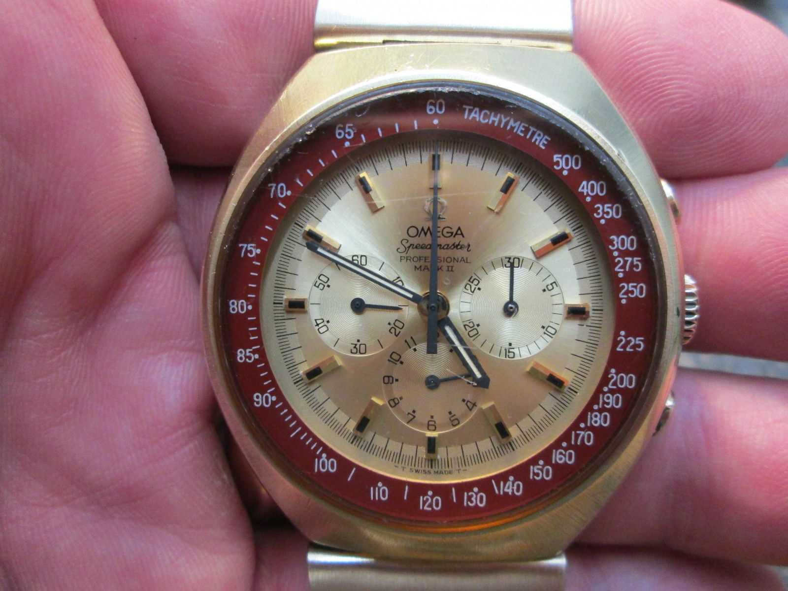 Omega Chronograph Speedmaster Professional Mark II Running Watch w Original Band | eBay