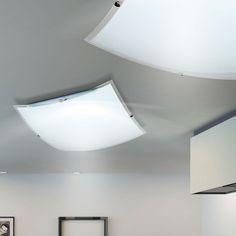 Details Zu LED Design Decken Lampe 20 Watt Glas Leuchte Küchen Flur  Beleuchtung Eckig Klar Idea