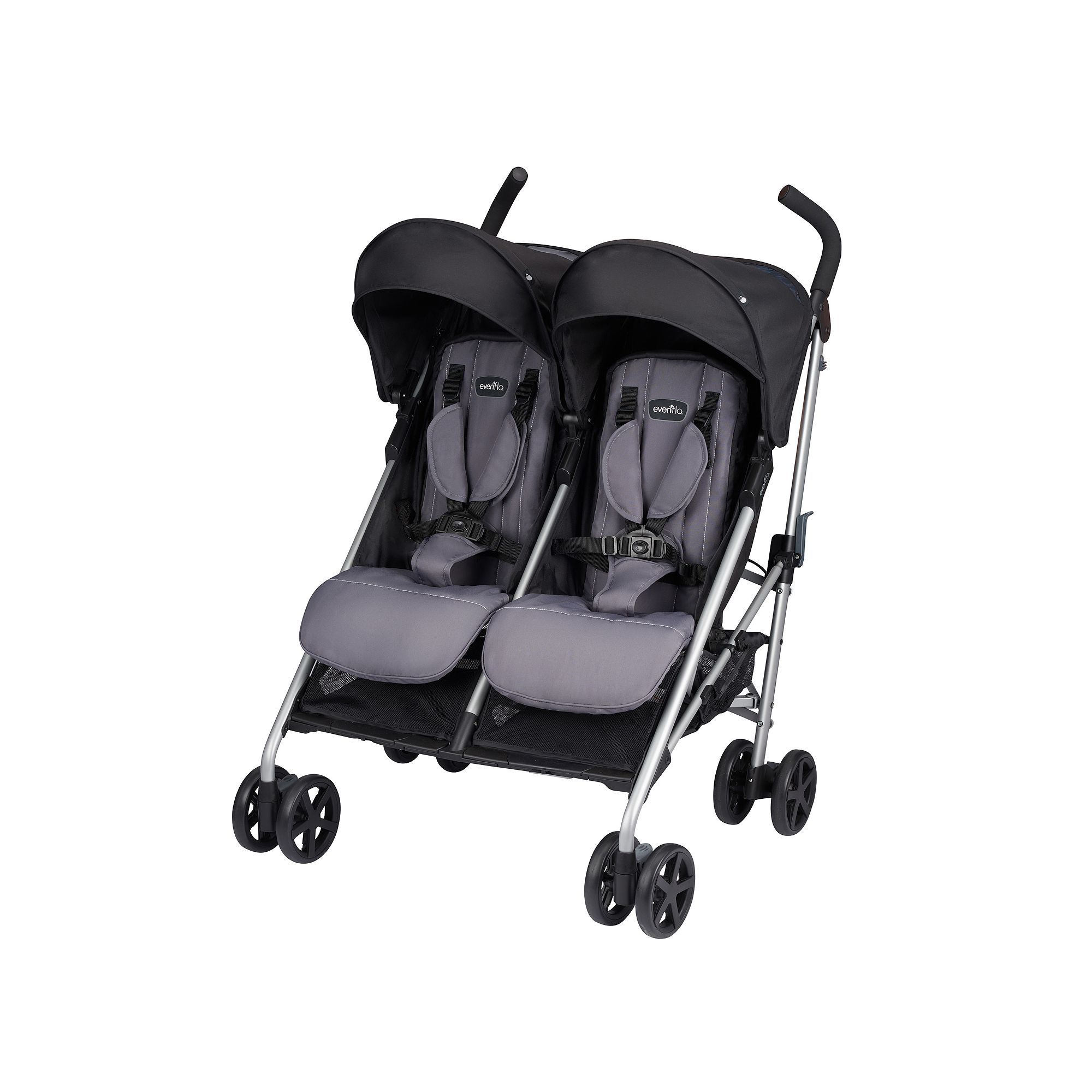 EvenFlo Minno Twin Double Stroller, Grey Double
