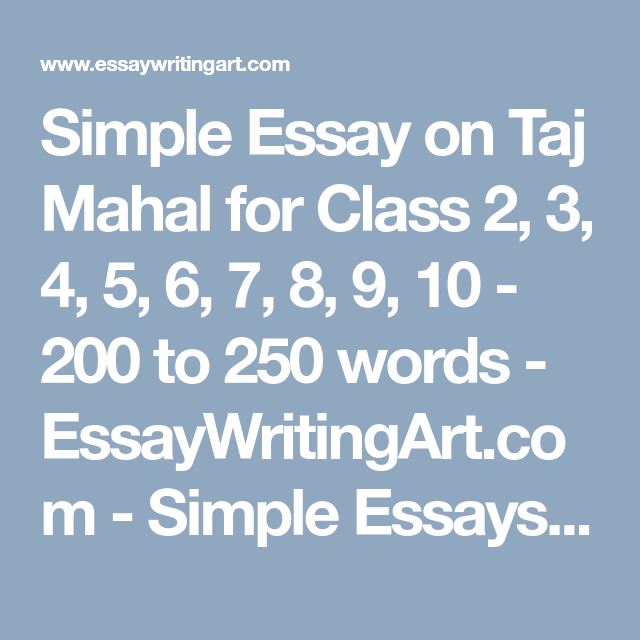 Simple Essay On Taj Mahal For Class             Simple Essay On Taj Mahal For Class      Help For Business Plan Writing also Essay Thesis Statement Examples  Buy Home Work
