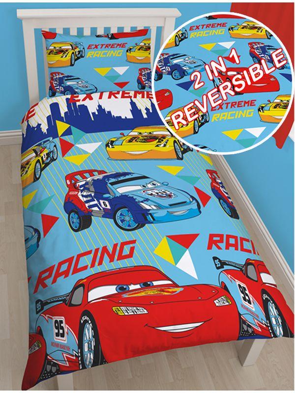 This Single Duvet Cover Set Is A Must For Fans Of The Disney Cars Films The Reversible Design Features Lightni Single Quilt Disney Bedding Disney Duvet Covers