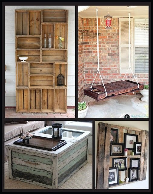 Best 25 wood crate furniture ideas on pinterest diy - Mobihome muebles ...