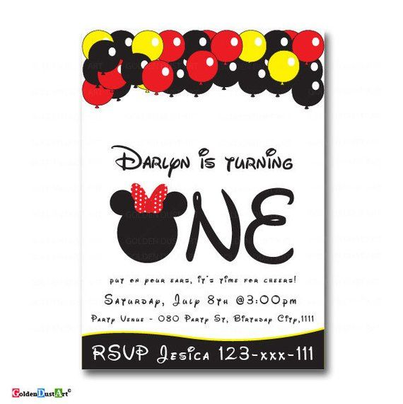 Mickey Mouse Birthday Invitation Oh Toodles And Mini Invite Kids Invites