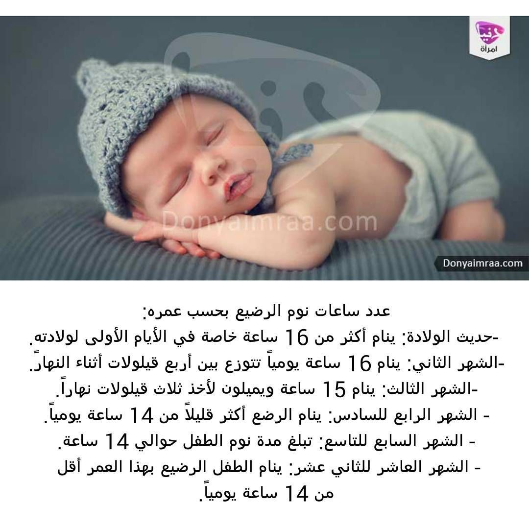 Emraa On Instagram عدد ساعات نوم الرضيع بحسب عمره لابد أنك تتساءلين حول عدد ساعات نوم الرضيع سواء كان طفلك ا Baby Education Baby Health Baby Inspiration
