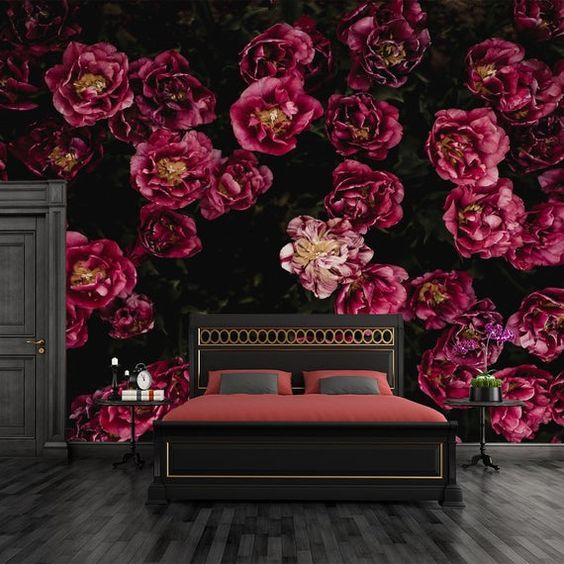 Tapeten Fototapeten Fototapety Tapety Murals Papier Peint Wallpapers 80 Floral Wallpaper Wallpapers Vintage Painting Wallpaper