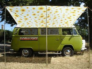 DIY Awning Idea For The Shasta VW Campervan Sunflower Sun Canopy