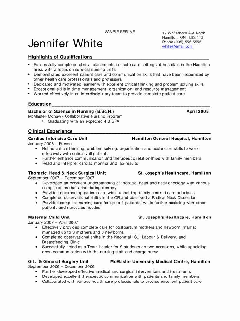 23 Student Nurse Resume Examples in 2020 Nursing resume